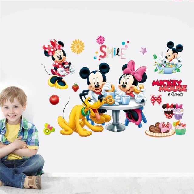 STICKER autocolant perete decorativ MICKEY MOUSE autoadeziv camera copii bebe