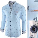Camasa pentru barbati, albastru deschis, slim fit, casual - Leon Special
