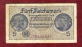 Bancnota Germania  - FUNF REICHSMARK   - 5 MARK  PERIOADA NAZISTA 1933 - 1945