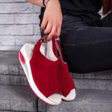 Sandale Piele Codina visinii cu talpa ortopedica -rl