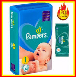 Cumpara ieftin Scutece Pampers Nr 1 Active Baby Giant Pack, 2-5 kg, 43 Buc+Servete PAMPERS