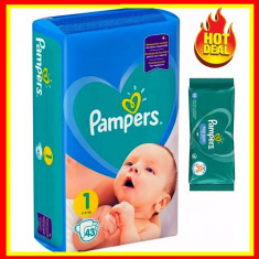 Scutece Pampers Nr 1 Active Baby Giant Pack, 2-5 kg, 43 Buc+Servete PAMPERS