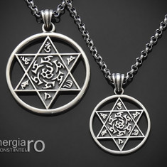Amuleta Pandantiv Steaua lui David Hexagrama Argint - cod PND915