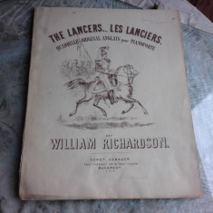 LES LANCIERS - WILLIAM RICHARDSON (PARTITURA)