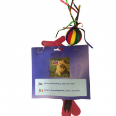 Jucarie de agatat pentru pisici multicolora, Global pet, 25 x 13 cm