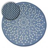 Covor rotund sisal Flat 48715/591 Vitraliu, cerc 120 cm