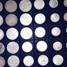 Lot de 374 monede Românești din argint. Preț 5000 euro toate.