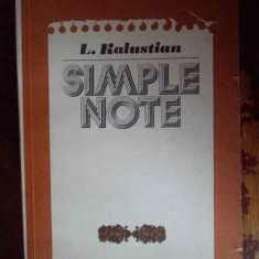 Simple Note - L. Kalustian ,300227