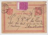 CP  Falticeni - Amsterdam 1897 expediata de furnizorul casei regale Jsidor Bring