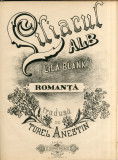 Liliacul Alb - Turel Anestin - Partitura Muzicala Romaneasca Rara Z. Dimitrescu