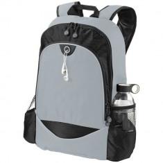 Rucsac Laptop, Everestus, BN, 15 inch, 600D poliester, gri, saculet de calatorie si eticheta bagaj incluse