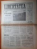 ziarul libertatea 12 ianuarie 1990- ziar din braila,zi de doliu national