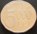 Moneda 5000 LEI - ROMANIA, anul 2003   *cod 89 B - aluminiu