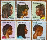 GUINEA-BISSAU'-'Coafuri Africane''-set 6 val.-  - stampilate