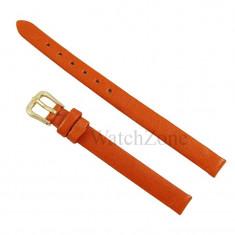 Curea ceas piele 8mm portocalie