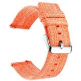 Curea material textil, compatibila cu Huawei Watch GT, Telescoape QR, 22mm, Merigold Orange