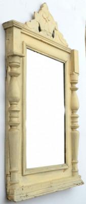 Oglinda veche cu rama din lemn circa 1900 foto