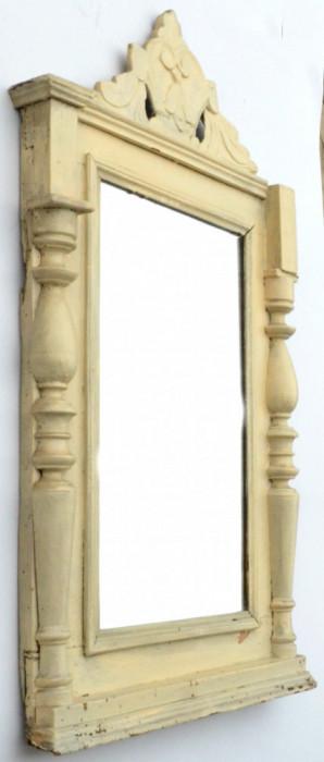 Oglinda veche cu rama din lemn circa 1900