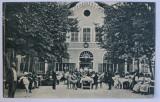 SANGEORGIUL ROMAN , HOTELUL ' HEBE ' - CARTE POSTALA ILUSTRATA , MONOCROMA, CIRCULATA , PERIOADA INTERBELICA