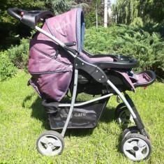 Carucior 2 in 1 Baby Care cu balansoar, Violet
