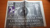 Ziarul ziua 13 noiembrie 1995 - moartea lui corneliu coposu