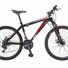 Bicicleta MTB HT 26 FIVE Up cadru otel culoare negru rosu