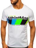 Tricou cu imprimeu bărbați negru Bolf SS10905
