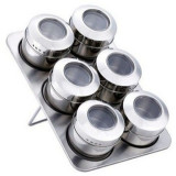 Set condimente cu suport magnetic 6 piese Grunberg GR 329