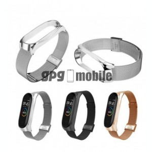 Bratara de schimb din metal cu zale mici pentru Xiaomi Mi Band 4