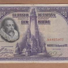 Spania - 100 Pesetas 1928