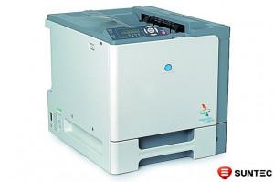 Imprimanta laser color Konica Minolta Magicolor 5430 DL cu cartuse goale, fara duplex si carcasa lovita
