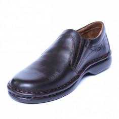 Pantofi barbati din piele naturala, Zen, Gitanos, Maro, 39 EU