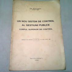 UN NOU SISTEM DE CONTROL AL GESTIUNII PUBLICE. CORPUL SUPERIOR DE CONTROL - ION RADULESCU