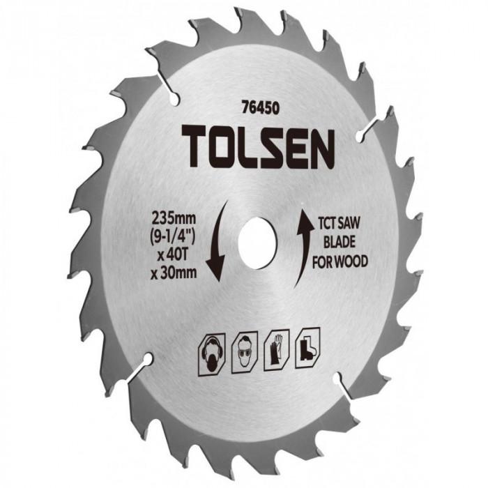 Lama ferastrau TCT Tolsen, 185 x 30 x 40T