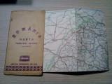ROMANIA HARTA TURISTICA-RUTIERA - Scara = 1:850000 - 1990; dim.: 90.0x66 cm