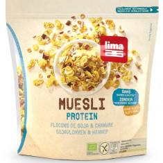Muesli proteic cu fulgi de soia si canepa fara gluten bio 350g
