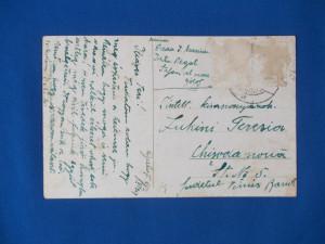 CARTE POSTALA , GALATI , GRADINA DIN CENTRU , CIRCULATA , 1929