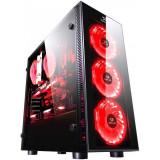Cumpara ieftin Carcasa Gaming Redragon Sidewipe Black, USB 3.0, controller RGB cu telecomanda