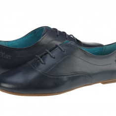 Pantofi casual piele femei s.Oliver Bony bleumarin 52320022805, 36 - 40, Cu talpa joasa