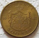 Moneda istorica 500 LEI - ROMANIA REGAT, anul 1945   *cod 5351 = UNC