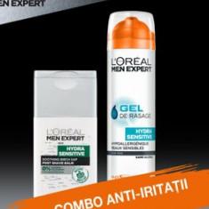 Set cadou Gel de ras L Oreal Paris Men Expert Hydra-Sensitive 200 ml + Balsam dupa ras L Oreal Paris Men Expert Hydra-Sensitive 125ml