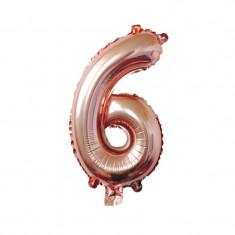 Balon folie Partigos cifra 6 Roze gold 90 cm