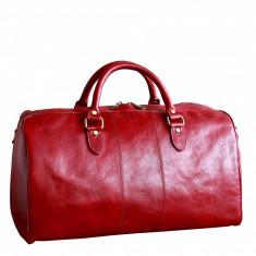 Geanta voiaj din piele naturala vachetta, geanta avion, GV105