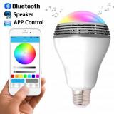 Cumpara ieftin Bec Smart LED cu difuzor audio si diverse culori, E27