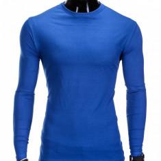 Bluza pentru barbati din bumbac albastru simpla slim fit L59