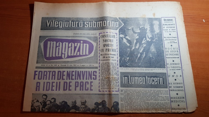 magazin 14 iulie 1962-articol si foto orasul onesti,,cu tandarica la varsovia
