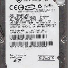 Hdd Laptop 2.5 inch SATA 250GB 5400rpm 8Mb cache Hitachi 0A56411