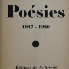 POESIES 1917 - 1920 par JEAN COCTEAU , 1920 , EDITIE NUMEROTATA , 853 DIN 1032*