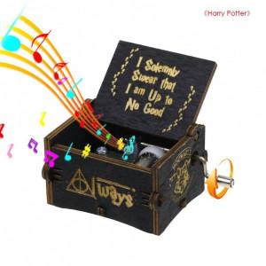 Cutie Muzicala HARRY POTTER - Culoare Negru