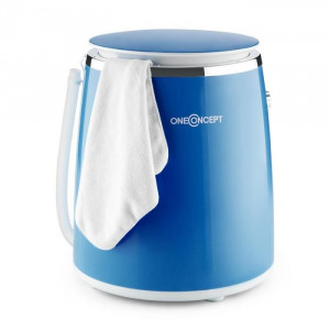 OneConcept ECOWASH-PICO, albastră, mini mașină de spălat, funcția de stoarcere, 3,5 kg, 380 W